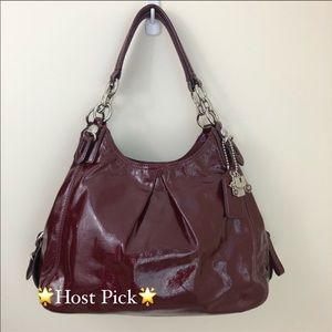 Coach Maggie Mia Patent Leather Purse Hobo Bag